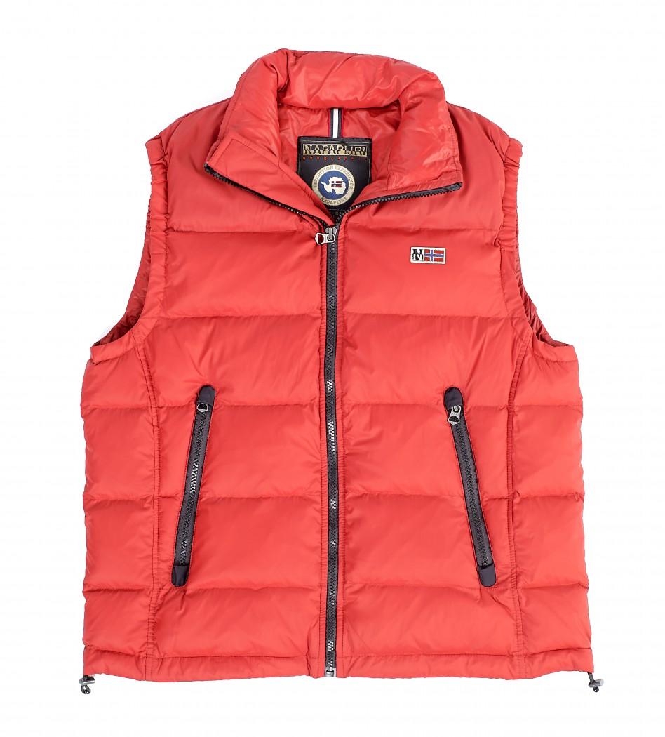 5a3f5340419 Жилет пуховый красного цвета - Интернет магазин брендовой одежды  BOMBABRANDS.RU