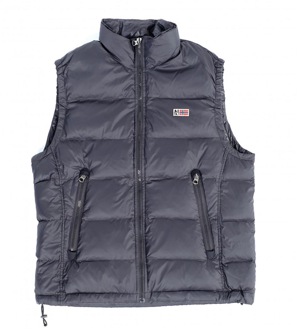 Жилет пуховый черного цвета - Интернет магазин брендовой одежды BOMBABRANDS.RU