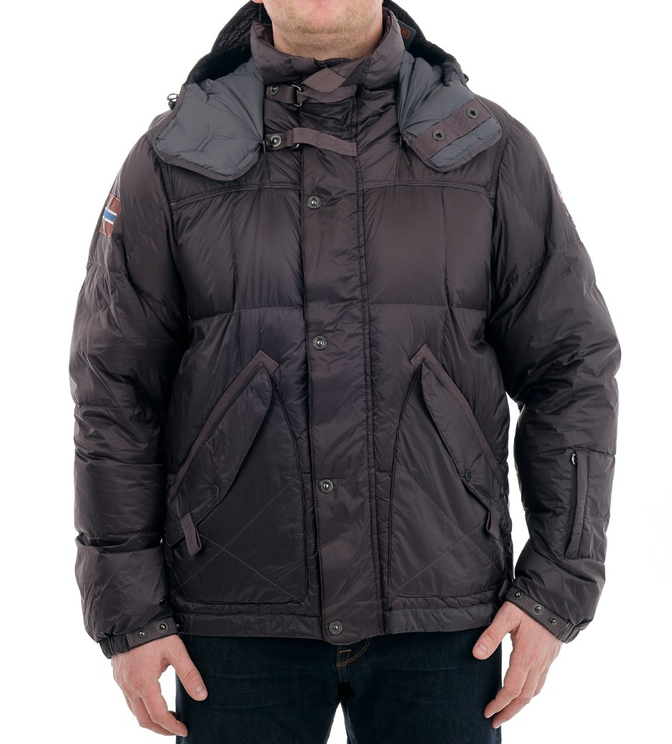 Пуховик n0y2ut серый - Интернет магазин брендовой одежды BOMBABRANDS.RU
