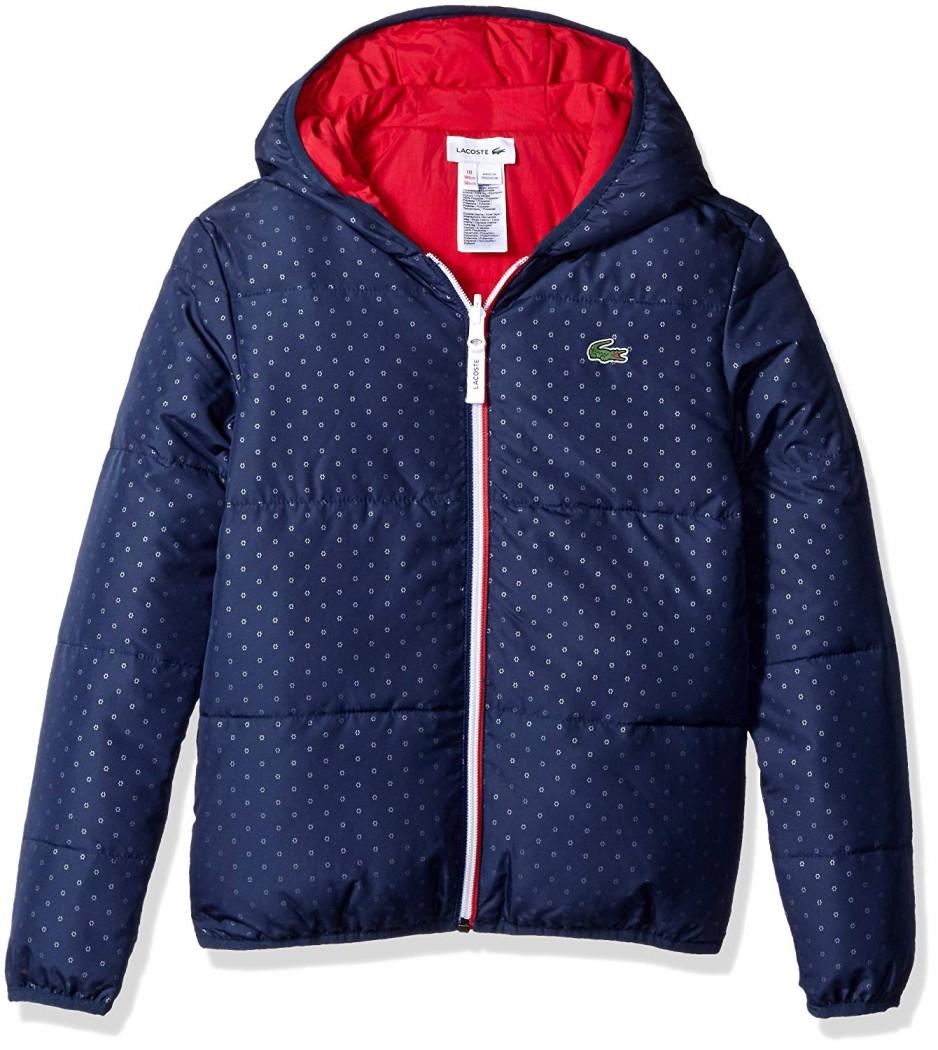 Куртка Lacoste BJ9681 Floral Print двухсторонняя - Интернет магазин брендовой одежды BOMBABRANDS.RU