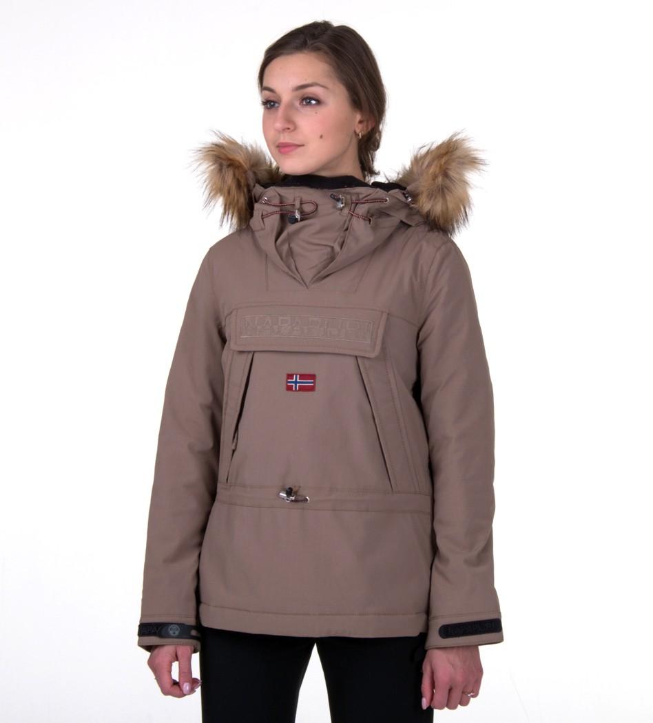 338bd8114a95 Куртка анорак женский Napapijri бежевый в интернет магазине