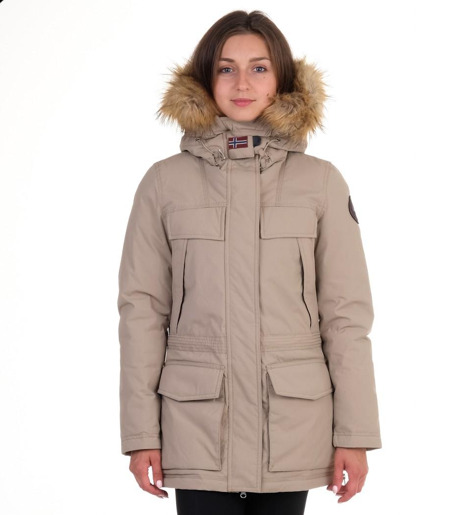 Парка Skidoo Open Beige with fur - Интернет магазин брендовой одежды BOMBABRANDS.RU