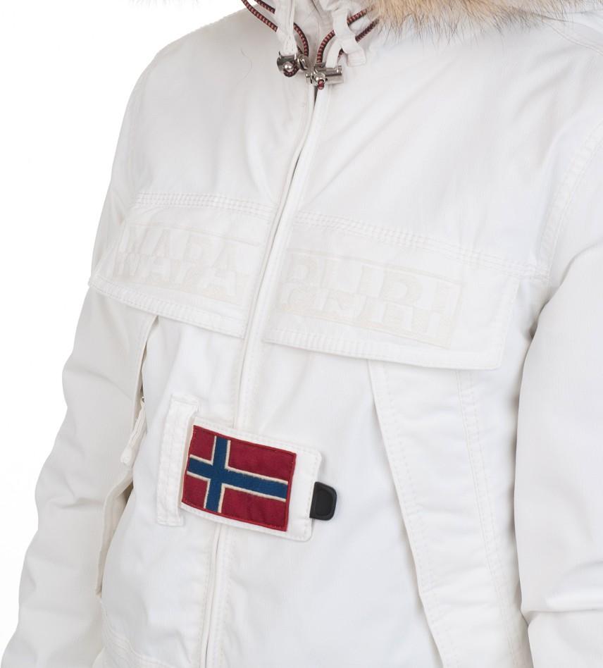 d62e9ffbd Парка Skidoo Open Bianco с натуральным мехом - Интернет магазин брендовой  одежды BOMBABRANDS.RU