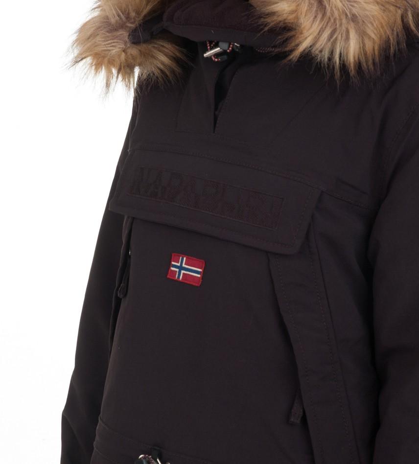 c00ed667b Анорак Skidoo Black with fur - Интернет магазин брендовой одежды BOMBABRANDS .RU