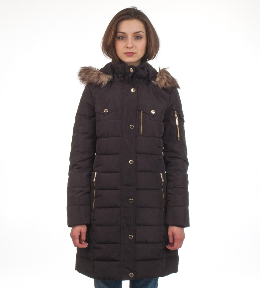 Пуховик Down Puffer Jacket Bubble Coat Black Gold Hood Fur Trim - Интернет магазин брендовой одежды BOMBABRANDS.RU