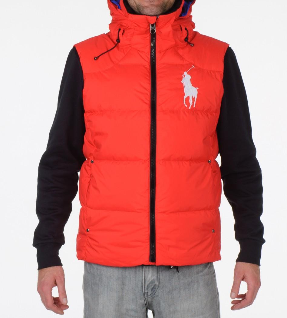 Жилет пуховый Tyrol Red с капюшоном - Интернет магазин брендовой одежды BOMBABRANDS.RU