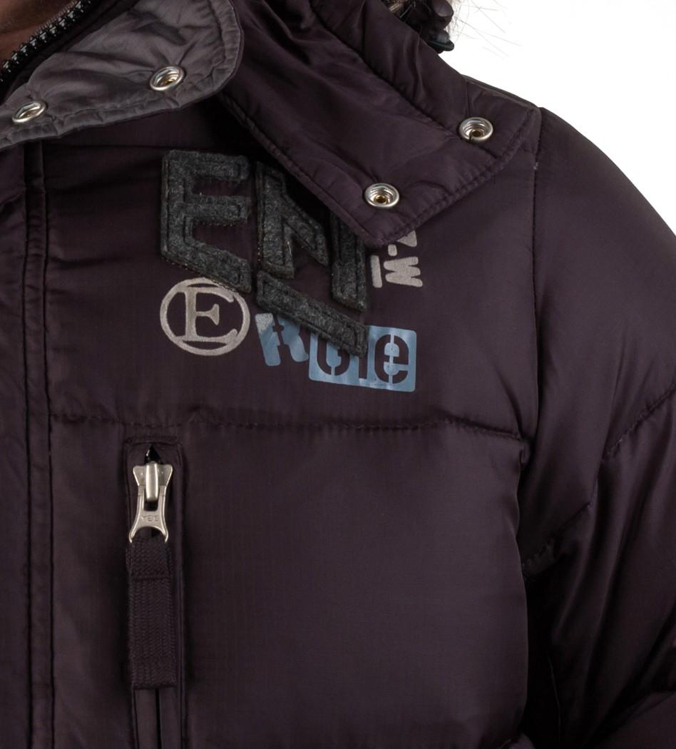 f453a537d9f7 Пуховик с капюшоном и искусственным мехом черный - Интернет магазин  брендовой одежды BOMBABRANDS.RU