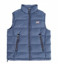 Жилет пуховый синего цвета - Интернет магазин брендовой одежды BOMBABRANDS.RU