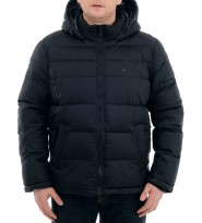 Пуховик с капюшоном черного цвета - Интернет магазин брендовой одежды BOMBABRANDS.RU