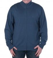Джемпер с молнией по всей длине синий - Интернет магазин брендовой одежды BOMBABRANDS.RU