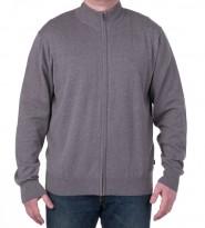 Джемпер с молнией по всей длине серый - Интернет магазин брендовой одежды BOMBABRANDS.RU
