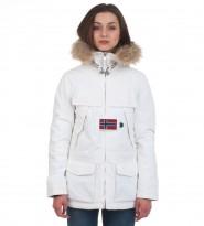 Парка Skidoo Open Bianco с натуральным мехом - Интернет магазин брендовой одежды BOMBABRANDS.RU