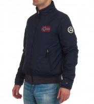 Ветровка на флисе синего цвета - Интернет магазин брендовой одежды BOMBABRANDS.RU