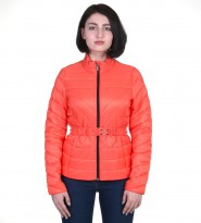 Куртка с поясом оранжевая - Интернет магазин брендовой одежды BOMBABRANDS.RU