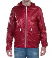 Ветровка красная с капюшоном - Интернет магазин брендовой одежды BOMBABRANDS.RU