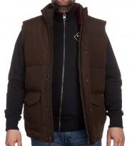 Жилет Langhorne Vest коричневый - Интернет магазин брендовой одежды BOMBABRANDS.RU