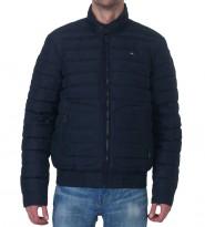 Пуховик укороченный синего цвета - Интернет магазин брендовой одежды BOMBABRANDS.RU