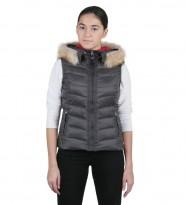 Жилет пуховый Addie Hood grey - Интернет магазин брендовой одежды BOMBABRANDS.RU