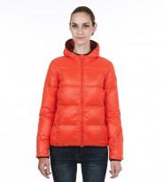 Пуховик оранж. с капюшоном - Интернет магазин брендовой одежды BOMBABRANDS.RU