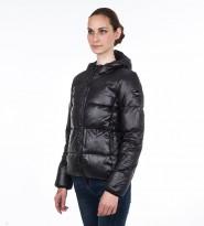 Пуховик с капюшоном черный - Интернет магазин брендовой одежды BOMBABRANDS.RU