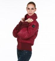 Пуховик укороченный бордовый - Интернет магазин брендовой одежды BOMBABRANDS.RU