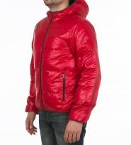 Пуховик с капюшоном красный - Интернет магазин брендовой одежды BOMBABRANDS.RU