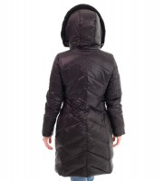 Пуховик удлиненный черный - Интернет магазин брендовой одежды BOMBABRANDS.RU
