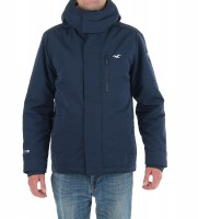 Куртка синяя зимняя с меховым подкладом из шерпы - Интернет магазин брендовой одежды BOMBABRANDS.RU