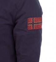 Парка синего цвета - Интернет магазин брендовой одежды BOMBABRANDS.RU