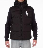 Жилет пуховый Big Pony Black с капюшоном - Интернет магазин брендовой одежды BOMBABRANDS.RU