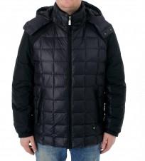 Пуховик черный с капюшоном  - Интернет магазин брендовой одежды BOMBABRANDS.RU