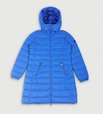 Пальто пуховое голубого цвета - Интернет магазин брендовой одежды BOMBABRANDS.RU