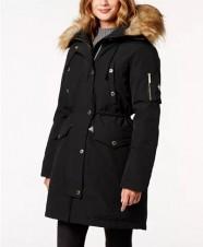 Парка пуховая Faux Fur Trim Hooded Down Parka Coat Black - Интернет магазин брендовой одежды BOMBABRANDS.RU