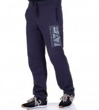 Брюки спортивные EA7 big logo синие - Интернет магазин брендовой одежды BOMBABRANDS.RU