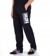 Брюки спортивные EA 7 big logo черные - Интернет магазин брендовой одежды BOMBABRANDS.RU
