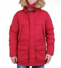 Парка Skidoo Open Old Red with fur - Интернет магазин брендовой одежды BOMBABRANDS.RU