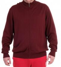 Джемпер с молнией по всей длине бордовый - Интернет магазин брендовой одежды BOMBABRANDS.RU