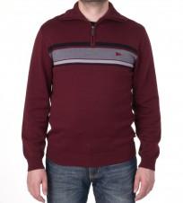 Джемпер с 1/3 молнии бордовый - Интернет магазин брендовой одежды BOMBABRANDS.RU
