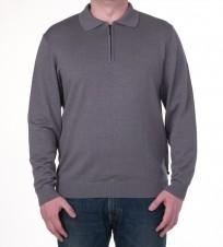 Джемпер серого цвета с молнией 1/3 - Интернет магазин брендовой одежды BOMBABRANDS.RU