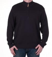 Джемпер с 1/3 молнии черный - Интернет магазин брендовой одежды BOMBABRANDS.RU