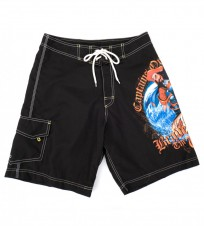 Шорты черные с принтом - Интернет магазин брендовой одежды BOMBABRANDS.RU