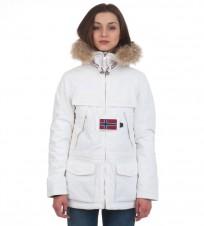 Парка Skidoo Open White с натуральным мехом - Интернет магазин брендовой одежды BOMBABRANDS.RU