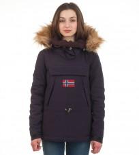 Анорак Skidoo Blue Marine big logo with fur - Интернет магазин брендовой одежды BOMBABRANDS.RU