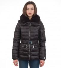 Пуховик с капюшоном черный rn111818 - Интернет магазин брендовой одежды BOMBABRANDS.RU
