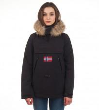 Анорак Skidoo Black с натуральным мехом - Интернет магазин брендовой одежды BOMBABRANDS.RU