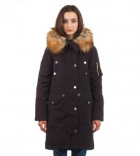 Парка пуховая Faux Fur Trim Hooded Down Parka Coat - Интернет магазин брендовой одежды BOMBABRANDS.RU