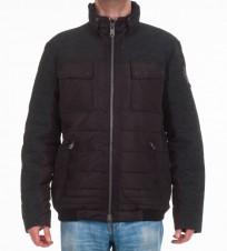 Куртка с вставками из шерсти черная - Интернет магазин брендовой одежды BOMBABRANDS.RU
