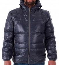 Пуховик с капюшоном синий - Интернет магазин брендовой одежды BOMBABRANDS.RU