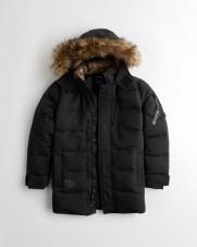 Парка Quilted Parka Black зимняя  - Интернет магазин брендовой одежды BOMBABRANDS.RU