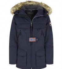 Куртка Skidoo Open Blue Marine with fur - Интернет магазин брендовой одежды BOMBABRANDS.RU